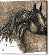 Psychodelic Grey Horse Original Painting Acrylic Print