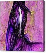 Psychodelic Purple Horse Acrylic Print