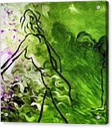 Psychological State In Green Acrylic Print