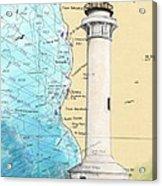 Pt Arena Lighthouse Ca Nautical Chart Map Art Cathy Peek Acrylic Print