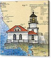 Pt Bonita Lighthouse Ca Nautical Chart Map Art Acrylic Print