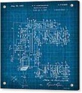 Pt Farnsworth Television Patent Blueprint 1930 Acrylic Print
