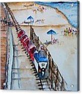 Pt Pleasant Nj Sand Train Acrylic Print