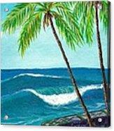 Puako Sea Wall Acrylic Print