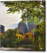 Public Garden Skyline Acrylic Print by Joann Vitali