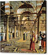 Public Prayer In The Mosque  Acrylic Print