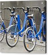 Public Shared Bicycles In Melbourne Australia Acrylic Print