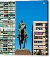 Public Statue Of General Artigas In Montevideo Acrylic Print