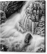 Puddle On The Rock Bw Acrylic Print