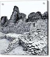 Pueblo Bonito In Black Acrylic Print