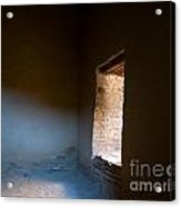 Pueblo Bonito Interior Window Detail Acrylic Print