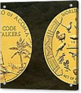 Pueblo Of Acoma Tribe Code Talkers Bronze Medal Art Acrylic Print