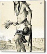 Pueblo Zuni Buffalo Dance, 1850s Acrylic Print