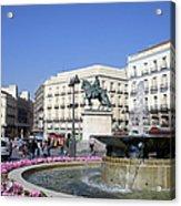 Puerta Del Sol In Madrid Acrylic Print
