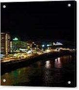 Puerto De La Cruz By Night Acrylic Print