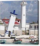 Puerto Morelos Lighthouse Acrylic Print