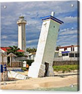 Puerto Morelos Lighthouses Acrylic Print