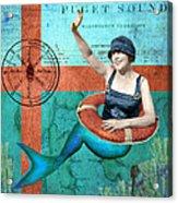 Puget Sound Mermaid  Acrylic Print