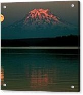 Puget Sound Moonrise Acrylic Print by Benjamin Yeager