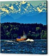 Puget Sound Tugboat Acrylic Print