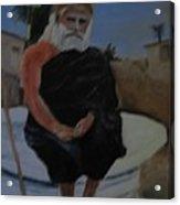 Pujya Bapji Acrylic Print