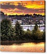 Pulallup River Sunset II Acrylic Print