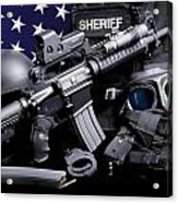 Pulaski Sheriff Tactical Acrylic Print