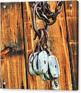 Pulley Hooks And Chain Acrylic Print