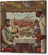 Pullman Compartment Cars Ad Circa 1894 Acrylic Print