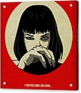 Pulp Fiction Poster Acrylic Print