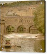 Pulteney Bridge In Bath Acrylic Print