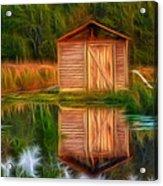 Pump House Reflection Acrylic Print
