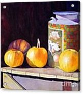 Pumpkiins At Collier Farm Acrylic Print