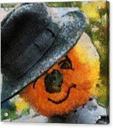 Pumpkin Face Photo Art 06 Acrylic Print
