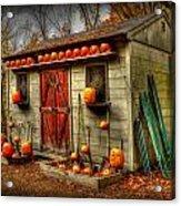 Pumpkin House Acrylic Print
