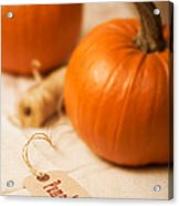 Pumpkin Label Acrylic Print