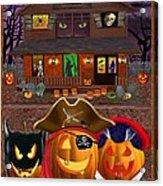 Pumpkin Masquerade Acrylic Print