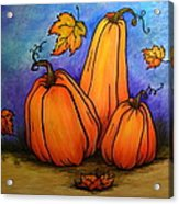 Pumpkin Trio Acrylic Print
