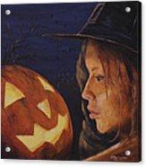 Pumpkin Witch Acrylic Print