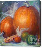 Pumpkins And Corn Acrylic Print