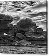 Punakaiki Truman Track #2 - Black And White Acrylic Print
