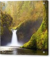 Punchbowl Pano Acrylic Print by Darren  White