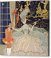 Punishing The Page  Acrylic Print by Georges Barbier