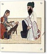 Punjabi Schoolmaster, Artwork Acrylic Print