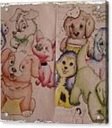 Pups  Acrylic Print