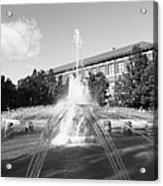 Purdue University Loeb Fountain Acrylic Print by University Icons