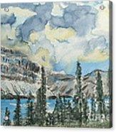 Pure North - Bow Lake Alberta Acrylic Print