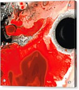 Pure Passion - Red And Black Art Painting Acrylic Print