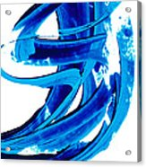 Pure Water 304 - Blue Abstract Art By Sharon Cummings Acrylic Print