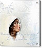 Purity Acrylic Print by Jennifer Page